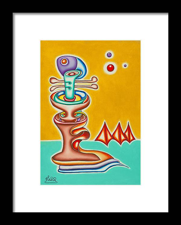 Fantasy Framed Print featuring the painting Hard Taffy by      Gillustrator