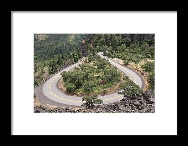 Hard Turn Framed Print featuring the photograph Hard Turn by Wes and Dotty Weber