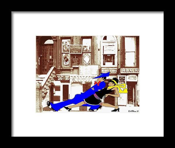 Harlem Framed Print featuring the digital art Harlem Strut by Walter Oliver Neal