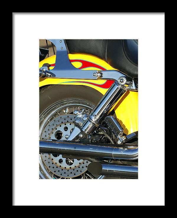 Harley-davidson Twin Cam Framed Print featuring the photograph Harley-davidson Twin Cam 88 Rear Wheel by Jill Reger