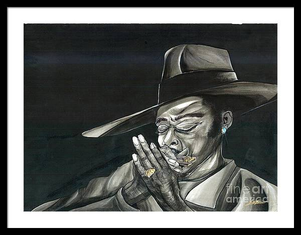 Harmonica Framed Print featuring the painting Harmonics by Keith Thurman