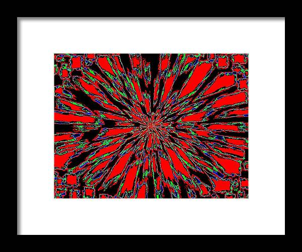 Abstract Framed Print featuring the digital art Harmony 37 by Will Borden