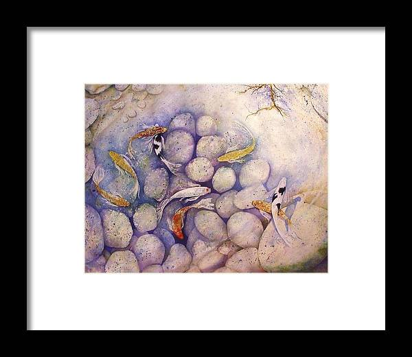 Koi Framed Print featuring the painting Harmony by David Kelly