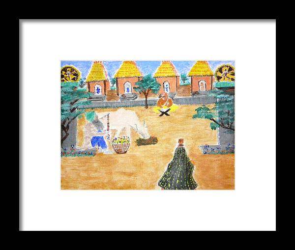 Framed Print featuring the painting Harmony by R B