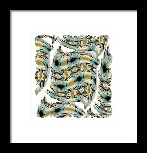 Abstract Framed Print featuring the digital art Harnesses Plus by Ron Bissett