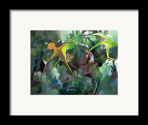 Abstract Framed Print featuring the digital art Harper's Ferry Hiking by Peter Shor
