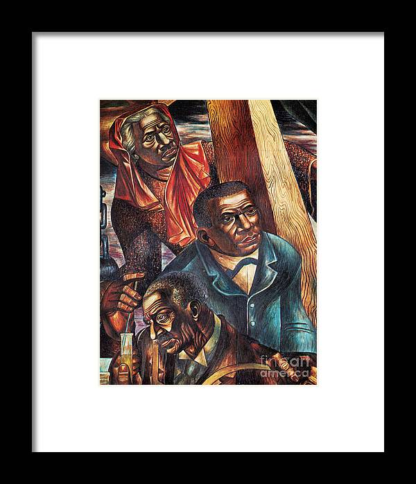Booker T. Washington Framed Print featuring the photograph Harriet Tubman, Booker Washington by Photo Researchers