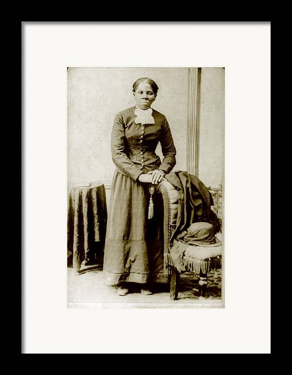 19th Century Framed Print featuring the photograph Harriet Tubman, Ca. 1860-75 by Everett