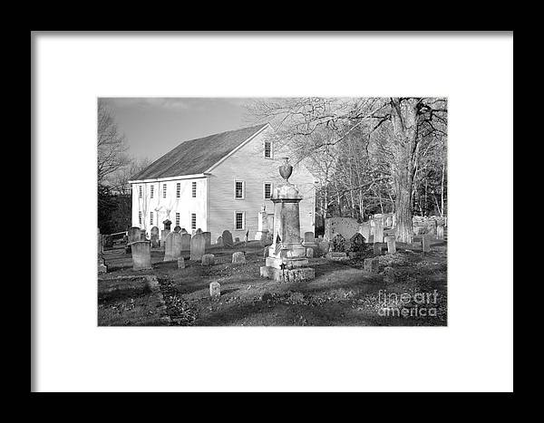 Maine Framed Print featuring the photograph Harrington Meetinghouse -bristol Me Usa by Erin Paul Donovan