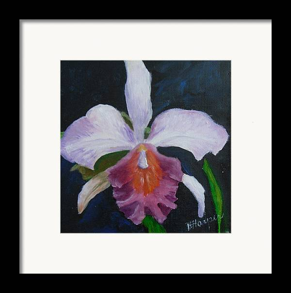 Flower Framed Print featuring the painting Hartford Orchid by Barbara Harper