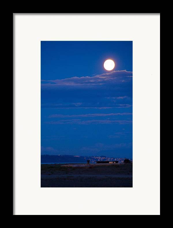 Moon Framed Print featuring the photograph Harvest Moon by Paul Kloschinsky