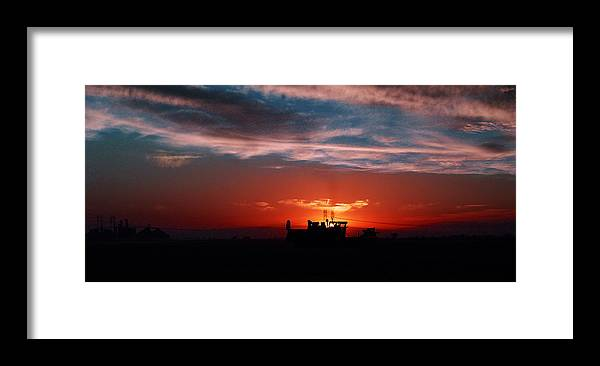 Sunset Framed Print featuring the photograph Harvest by Peter Piatt