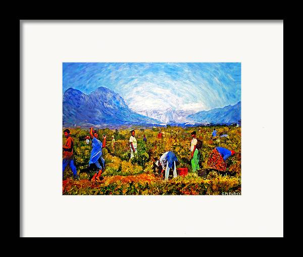 Vineyard Framed Print featuring the painting Harvest Time by Michael Durst