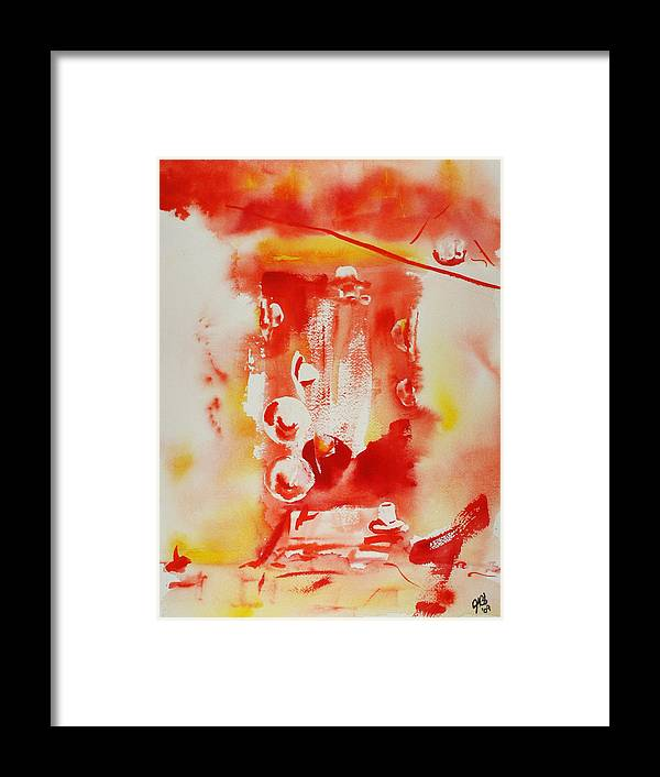 Watercolor Framed Print featuring the painting Hat Series 1 Hot Hats by Joyce Ann Burton-Sousa