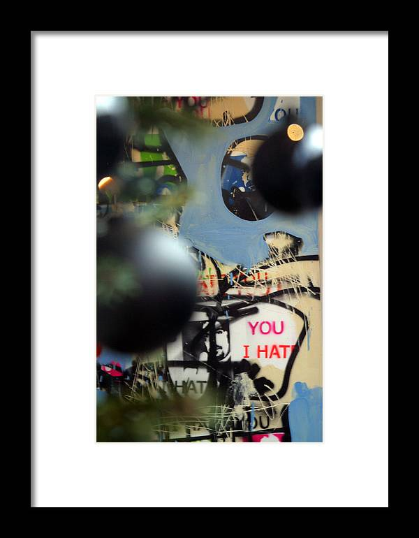 Jez C Self Framed Print featuring the photograph Hate You by Jez C Self
