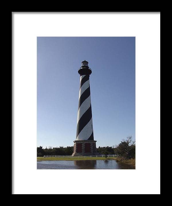 Hatteras Framed Print featuring the photograph Hatteras Lighthouse by Tina B Hamilton