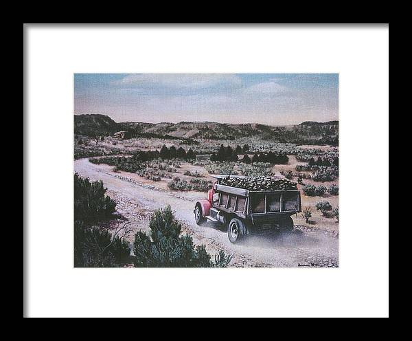 Colorado Framed Print featuring the print Hauling Uranium Ore 1952 by Lee Bowerman