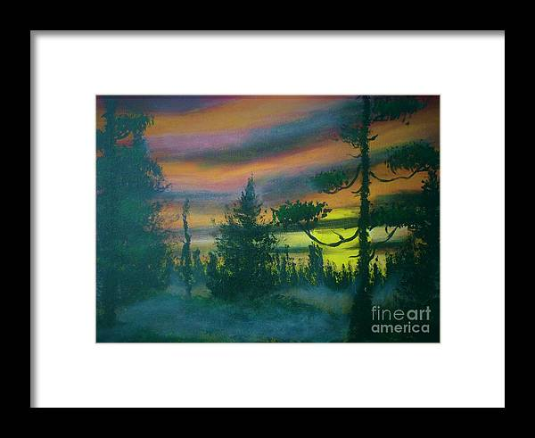 Haunted Framed Print featuring the painting Haunted by Andreea Moldovan