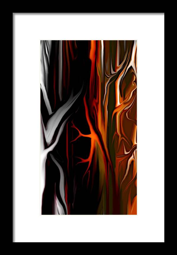 Abstract Digital Painting Framed Print featuring the digital art Haunted by David Lane