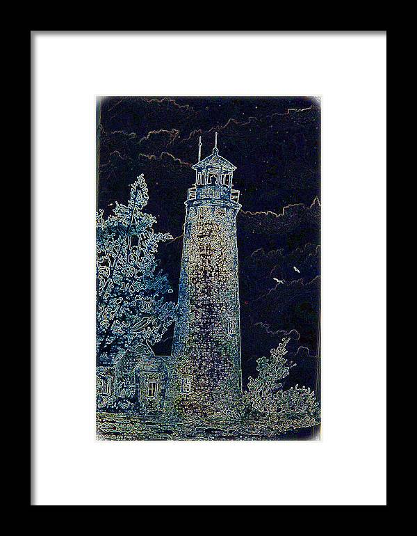 Lighthouse Framed Print featuring the photograph Haunting Illusion by JSAdkins Photography Jennifer S Adkins