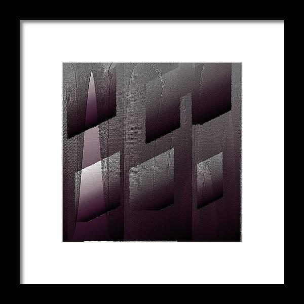 Digital Framed Print featuring the digital art Haus aus Beton by Ilona Burchard