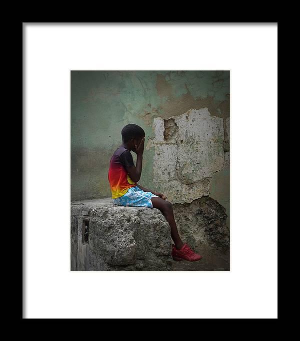 Havana Cuba Framed Print featuring the photograph Havana Boy by Cheryl Kurman