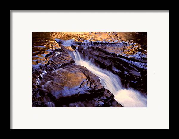Abstract Framed Print featuring the photograph Havana Glen Reflection by Roger Soule