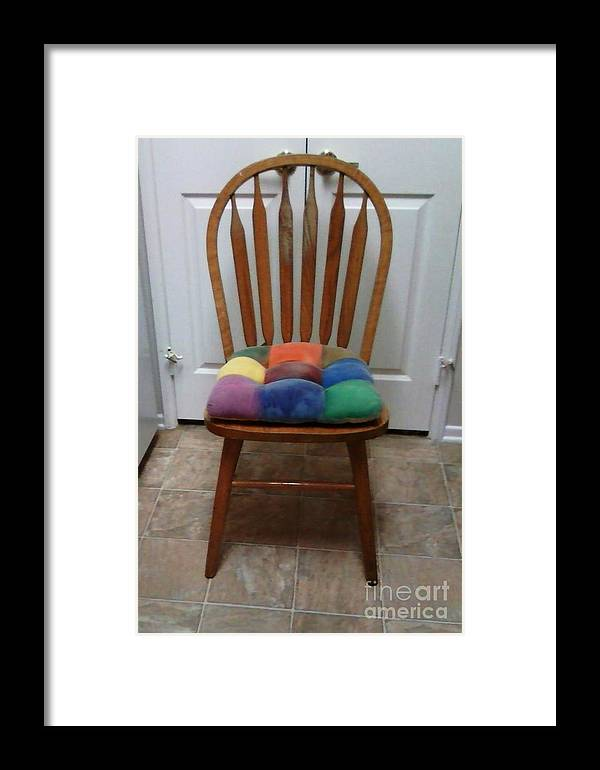 Chair Framed Print featuring the photograph Have A Seat by Jamey Balester