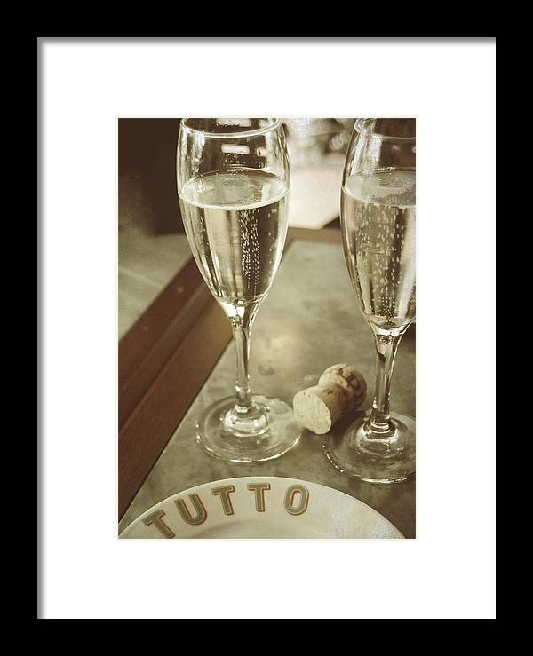 Champagne Framed Print featuring the photograph Have No Regrets by JAMART Photography