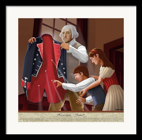 American Framed Print featuring the painting Have You Forgotten Providence by Brett H Runion