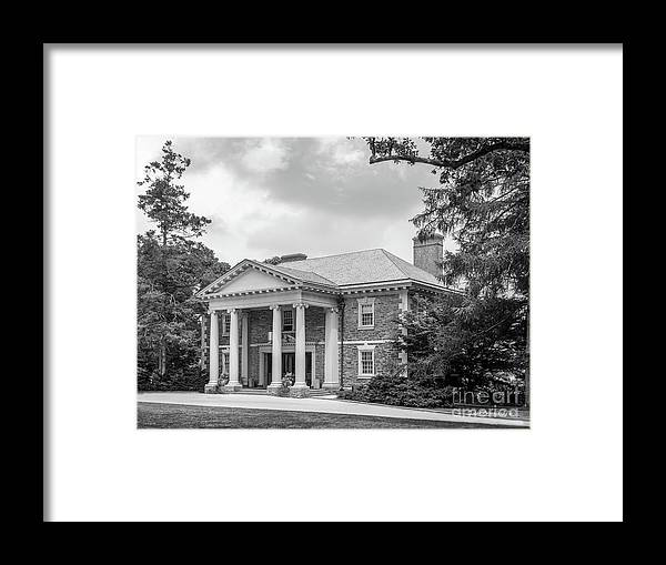 American Framed Print featuring the photograph Haverford College Roberts Hall by University Icons