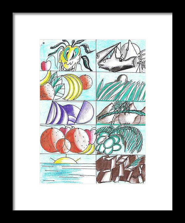 Art Framed Print featuring the drawing Having Fun Drawing by HPrince De Artist
