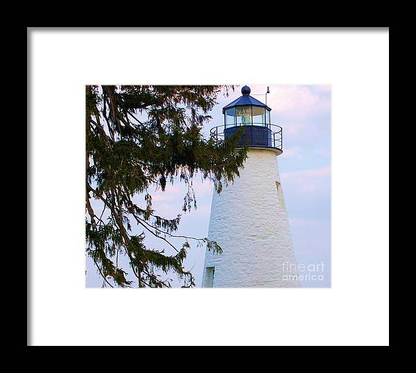 Lighthouse Framed Print featuring the photograph Havre De Grace Lighthouse by Debbi Granruth