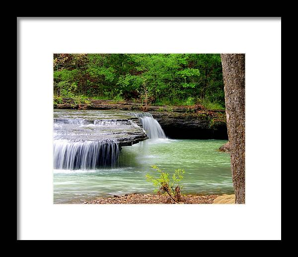 Waterfalls Framed Print featuring the photograph Haw Creek Falls by Marty Koch