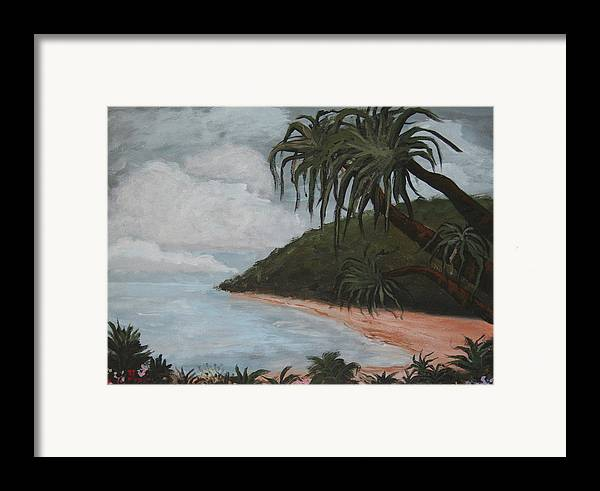 Landscape Framed Print featuring the painting Hawaii by Amy Parker