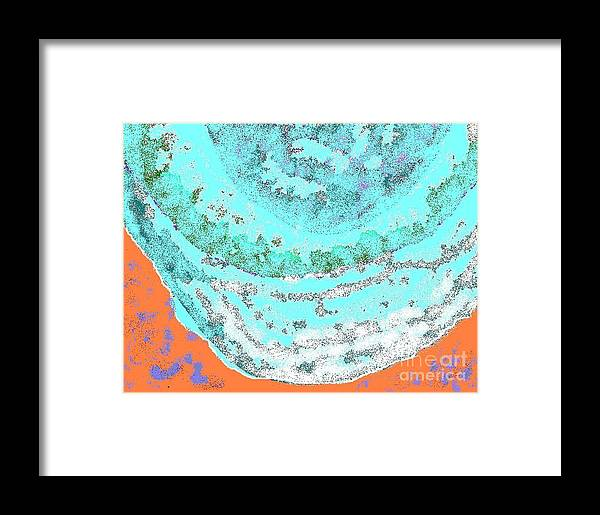 Vacation Framed Print featuring the digital art Hawaii Beach by Beebe Barksdale-Bruner