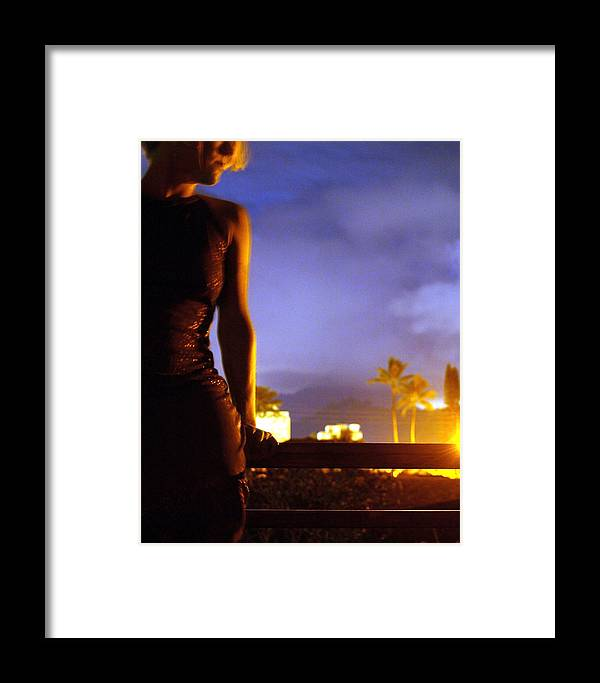 Portrait Framed Print featuring the photograph Hawaii Nights Self Portrait by Heather S Huston