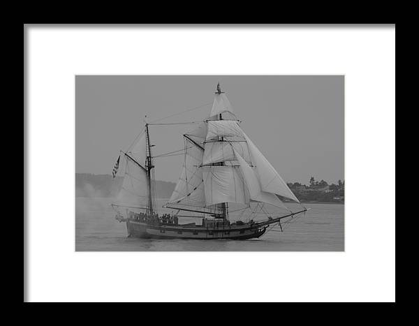 Tall Ships Framed Print featuring the photograph Hawaiian Chieftan by Sonja Anderson