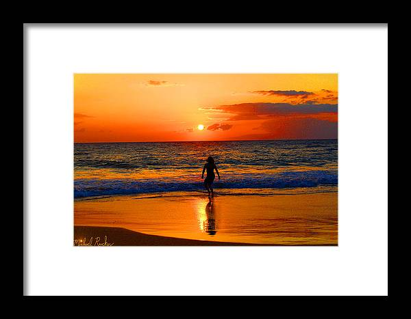 Hawaii Framed Print featuring the photograph Hawaiian Dancer by Michael Rucker