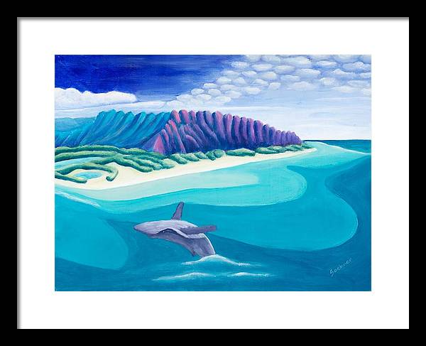 Landscape Framed Print featuring the painting Hawaiian Playground by Lynn Soehner