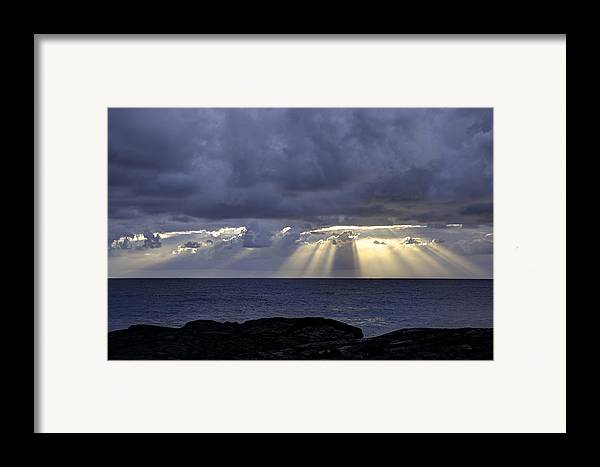 Sunrise Framed Print featuring the photograph Hawaiian Sunrise by Mike Herdering