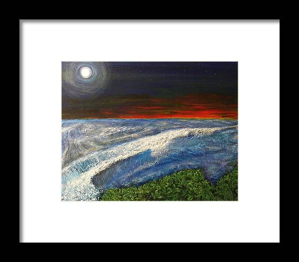 Beaches Framed Print featuring the painting Hawiian View by Michael Cuozzo