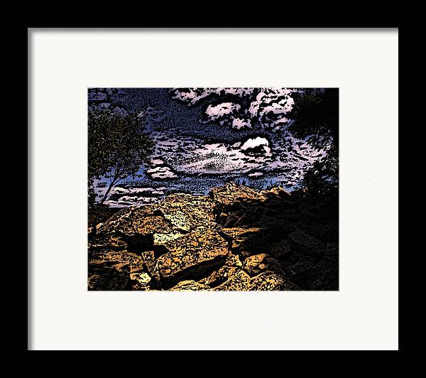 Landscape Framed Print featuring the photograph Hawk Mountain Pennsylvania by Peter Muzyka