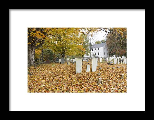 Colonial Meeting House Framed Print featuring the photograph Hawke Meetinghouse - Danville New Hampshire by Erin Paul Donovan