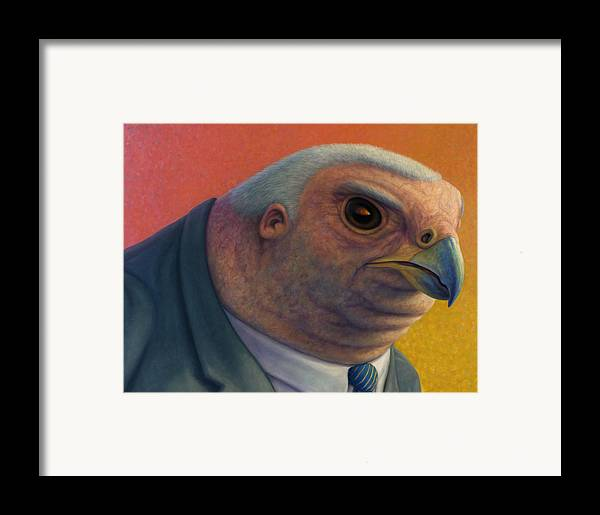 Hawk Framed Print featuring the painting Hawkish by James W Johnson