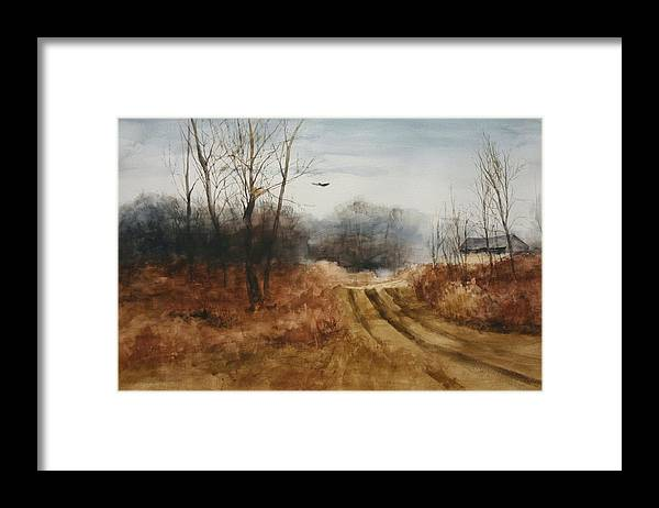 Landscapes Framed Print featuring the painting Hawks Nest by Don Cull