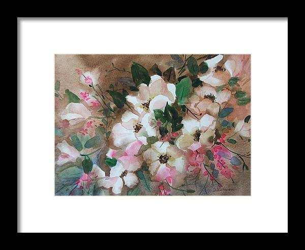 Spring Flowers Framed Print featuring the painting Hawthorne Beauties by Dianna Willman