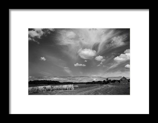 Door County Framed Print featuring the photograph Hay Field And Barn Clarks Lake Road by Stephen Mack