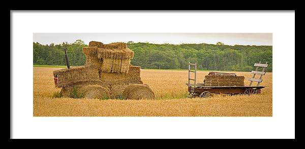 Wisconsin Framed Print featuring the photograph Hay Tractor by Carl Jackson