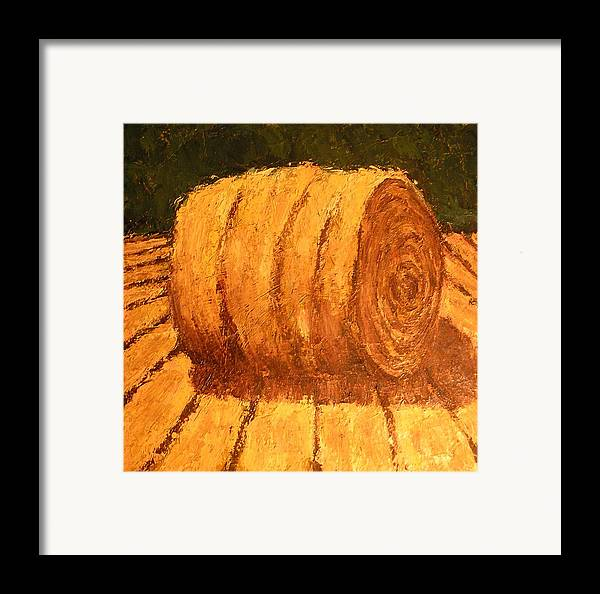 Art Sale Framed Print featuring the painting Haybale by Jaylynn Johnson